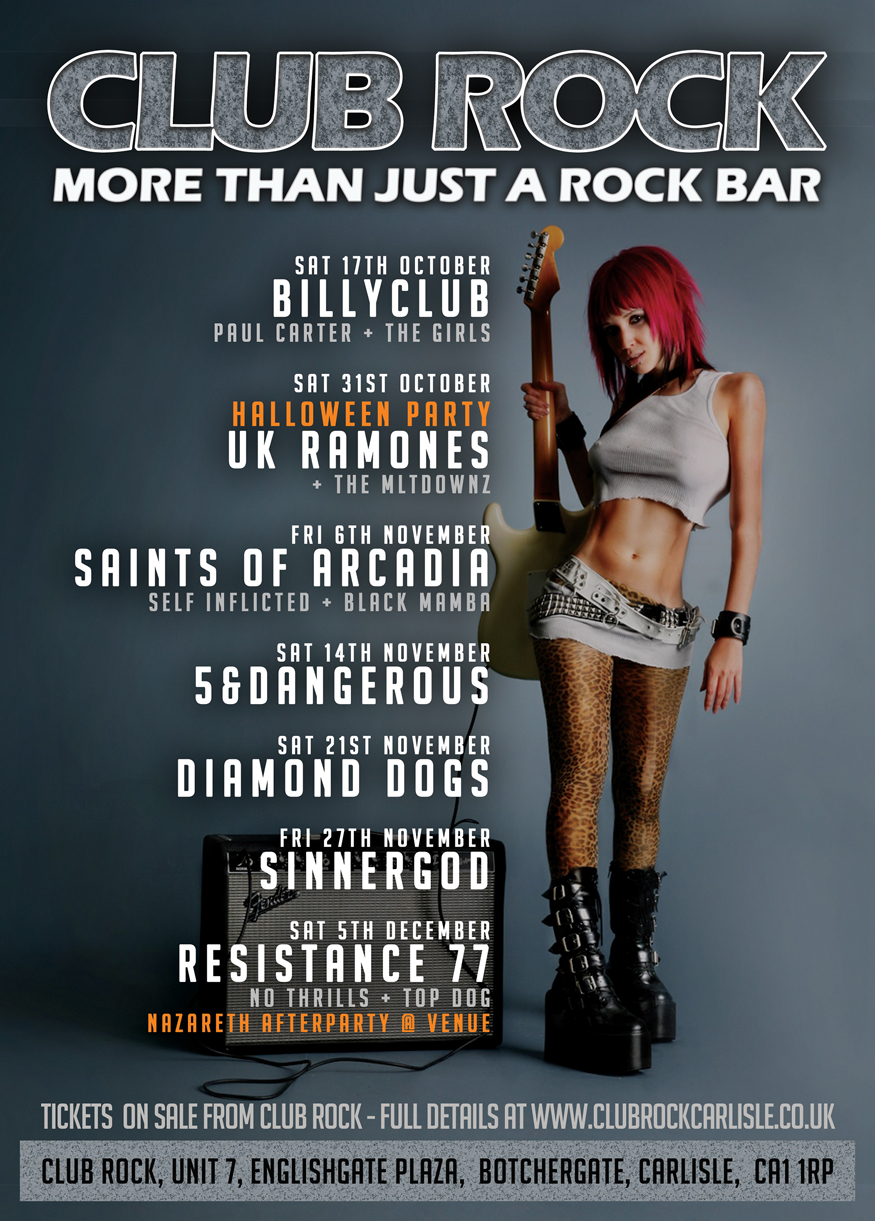 Club Rock - What's On Poster